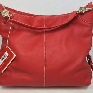 Dooney & Bourke Red Pebble Leather Purse w/Bag